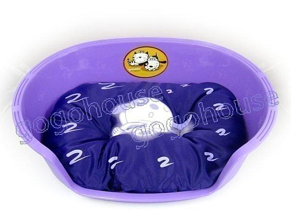 ☆狗狗之家☆防水塑膠寵物睡盆/睡窩/睡床~紫色(四季可用睡盆+睡墊)