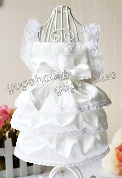 ~狗狗之家~ 綢緞蛋糕裙白色婚紗禮服 ~  好康折扣