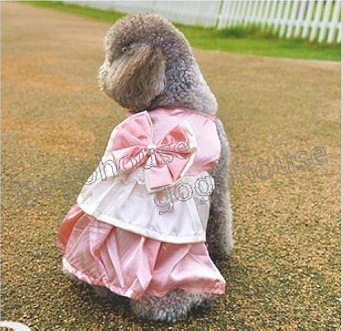☆狗狗之家☆夢幻綢緞蝴蝶結蛋糕公主禮服