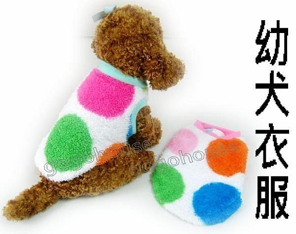 ☆狗狗之家☆《秋冬》幼幼犬剛出生寵物衣服~彩色款(適幼犬/貓/兔)
