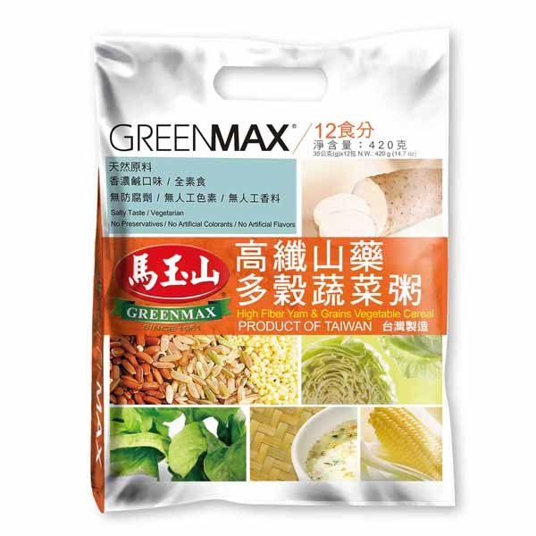 【馬玉山】高纖山藥多穀蔬菜粥(12入) │ 任選3包 現折90元