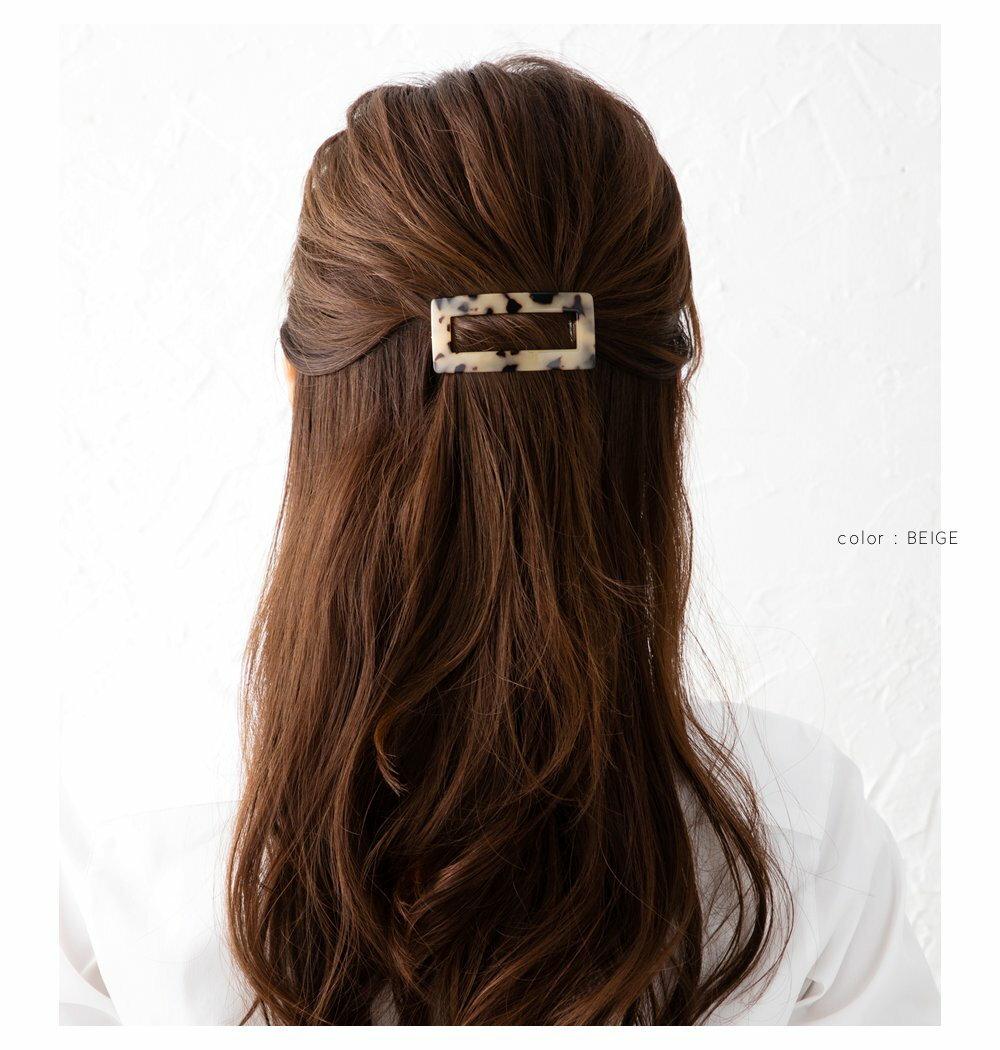 日本CREAM DOT  /  百搭長形琥珀色髮夾  /  a03617  /  日本必買 日本樂天直送(1590) 4