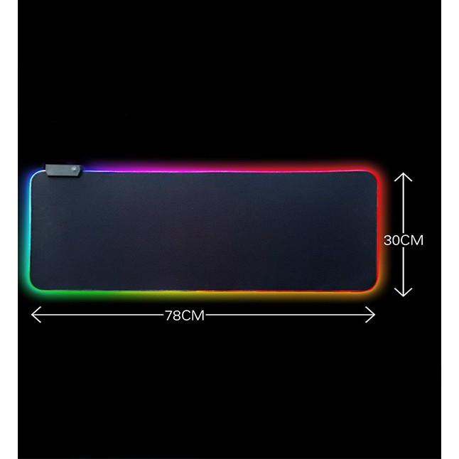 加厚0.3CM 超大 電競 RGB LED 發光滑鼠墊 七彩 呼吸 防滑