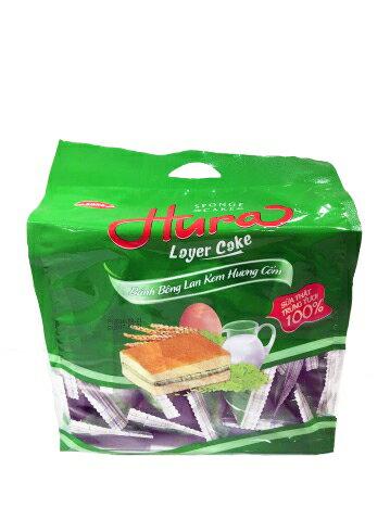 【草莓季、巧克力8折起】HURA 夾心蛋糕 390g (香草椰子、鮮奶油、草莓牛奶)