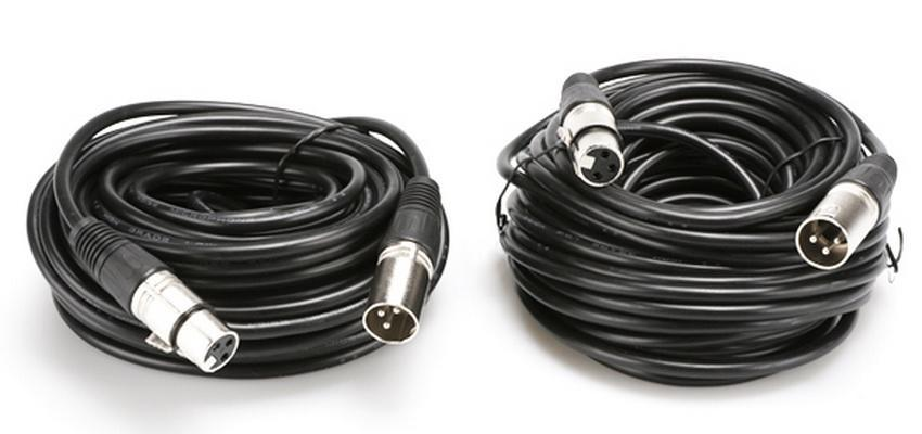 1 Pair XLR 3Pin Microphone Audio Connector Male to Female Shielded Cable Cord 50ft 2