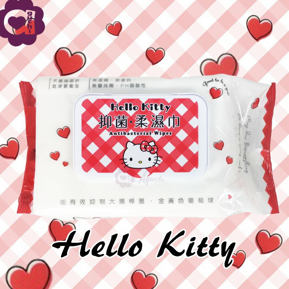Hello Kitty 凱蒂貓抑菌有蓋柔濕巾/濕紙巾 (加蓋) 70 抽 能有效抑制大腸桿菌及金黃色葡萄球菌
