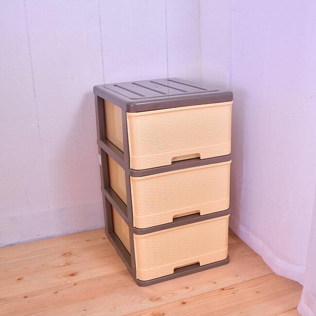 衣櫥斗櫃 收納櫃 三層抽 (單抽大空間34X48)B07050