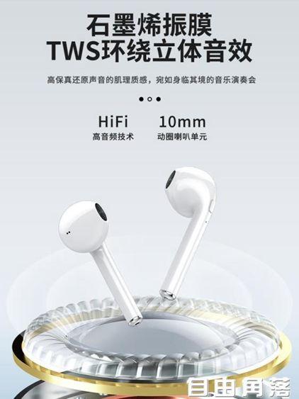 夏新I9真無線藍芽耳機雙耳一對運動跑步隱形微小型入耳塞掛耳式適用蘋果  自由角落