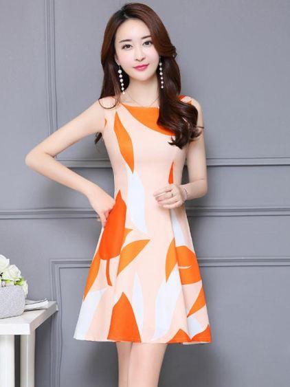 無袖洋裝 連身裙新款氣質夏季中長款太太裙  格林世家