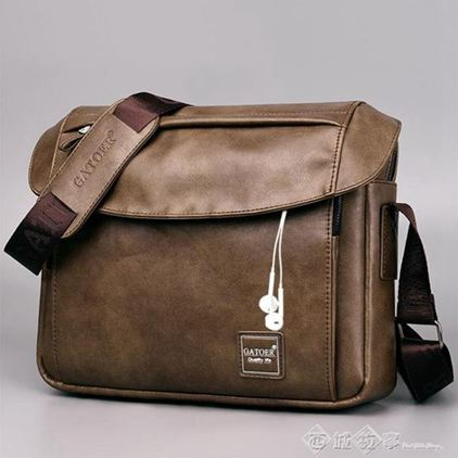 一件八折 大容量男士單肩包A4包包斜挎包休閒斜背包商務iPad橫款郵差包男包