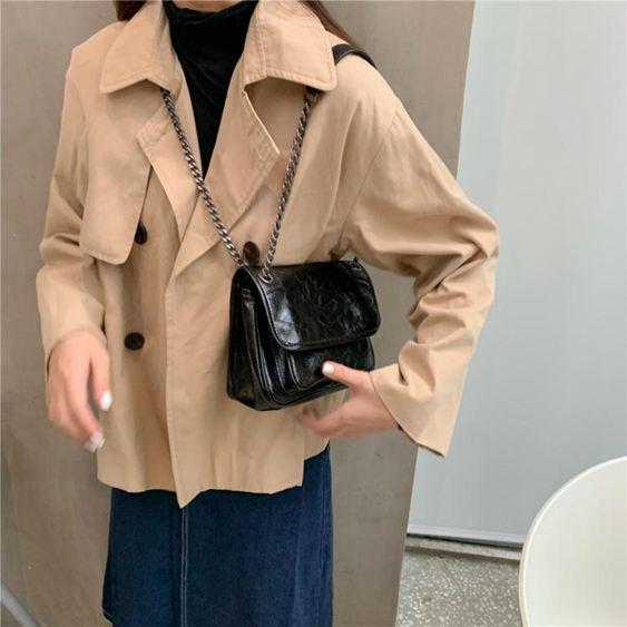 包包女包新款韓版大容量高級感側背斜背包復古手提包潮