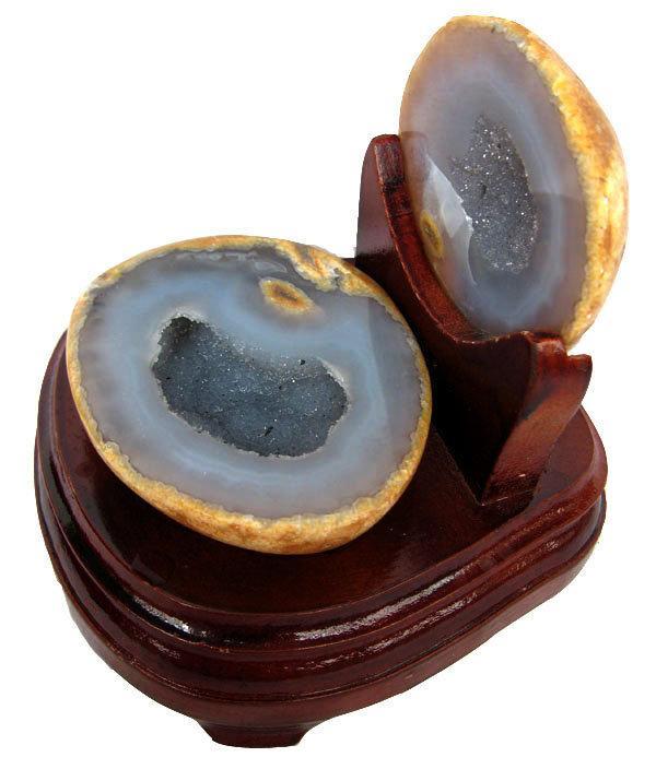 瑪瑙聚寶擺件0.97kg水晶聚寶盆水晶洞一物一圖