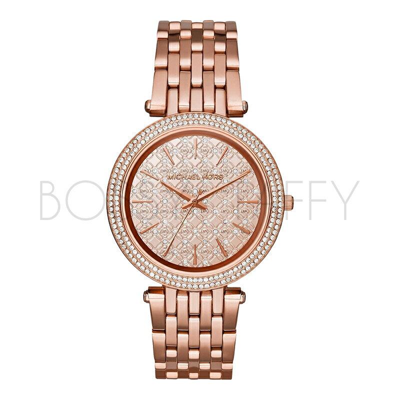 MK3399 MICHAEL KORS  經典鑲鑽滿天星石英錶 女錶