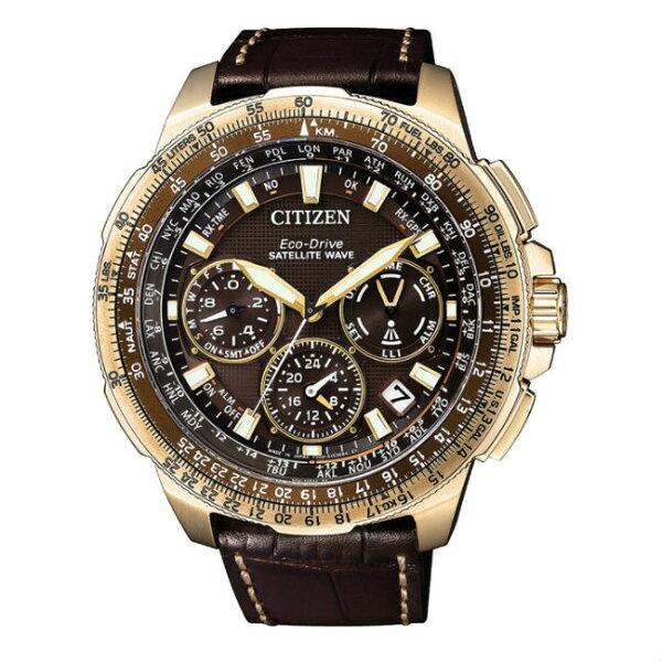 CITIZEN星辰CC9023-13X限量復古鈦金屬GPS衛星對時光動能腕錶黑面47mm