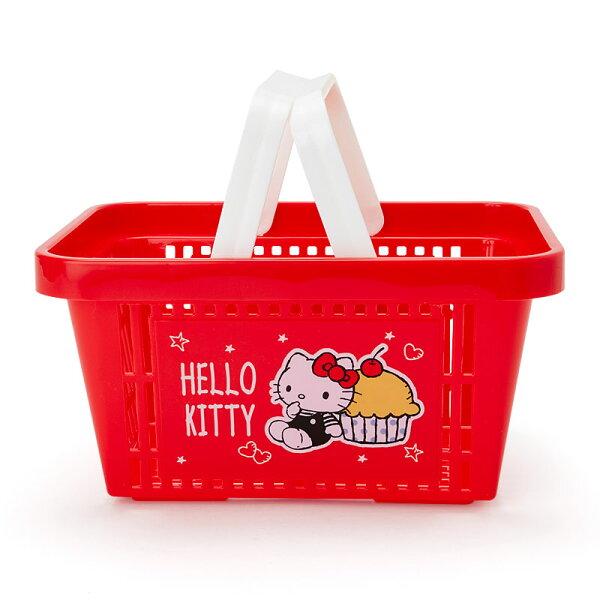 【真愛日本】4901610302552迷你收納提籃-KT蛋糕ACQB凱蒂貓kitty手提籃收納籃置物籃