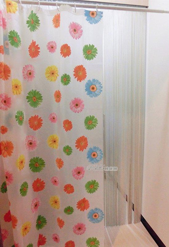 《喨晶晶生活工坊》台製~PEVA浴簾 乾溼分離˙防水簾˙隔間簾、B037B 180*180 附掛勾