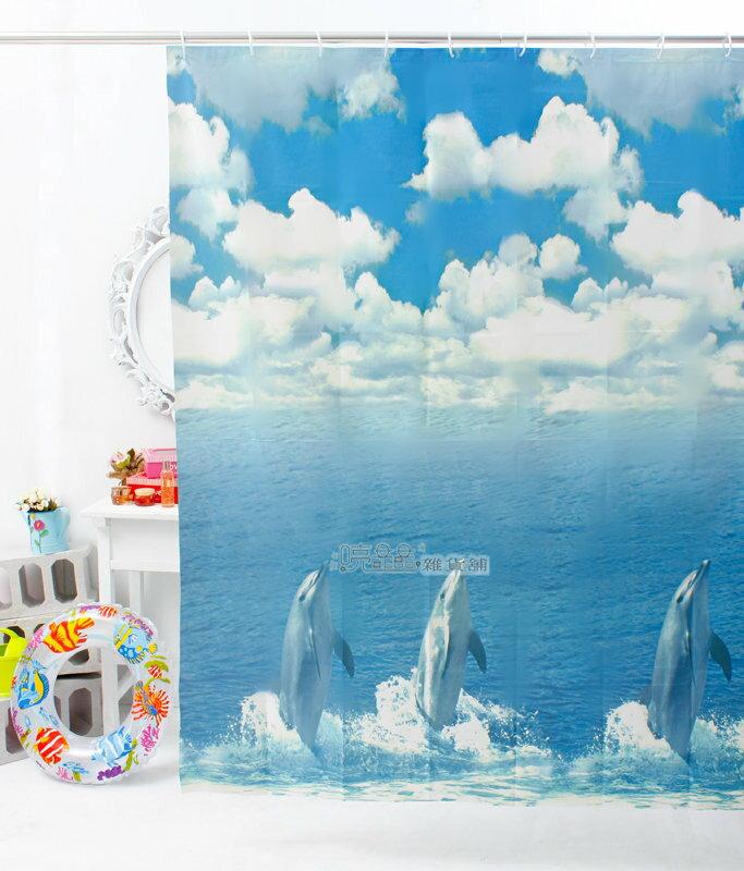 《喨晶晶生活工坊》MIT製 PEVA 防水浴簾˙隔間簾、防止冷氣外洩 ↘$120元、E1035 180*180 附掛勾