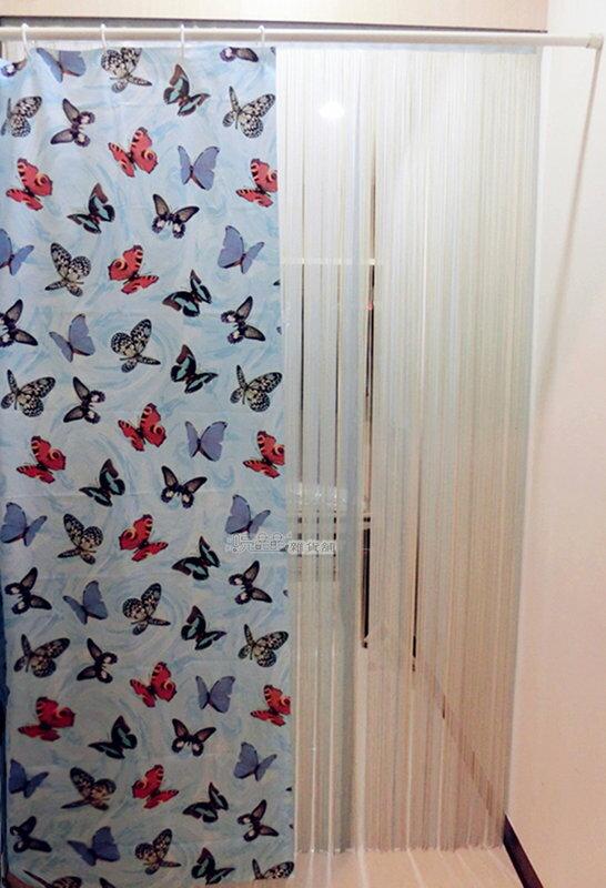 《喨晶晶生活工坊》台製 PEVA 防水浴簾˙隔間簾、防止冷氣外洩 M006-5A 180*180、附掛勾