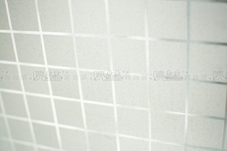 《喨晶晶生活工坊》台製 霧面格子 無背膠靜電貼.玻璃窗貼˙可重複使用˙50*150cm