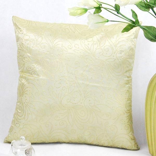 《喨晶晶生活工坊》傢飾~復古風 米色絲質點金抱枕套/靠枕套 45*45CM 4色↘$75元