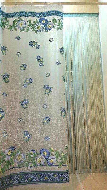 《喨晶晶生活工坊》台製~PEVA浴簾 乾溼分離˙防水簾˙隔間簾、6F2100-1 180*180 附掛勾