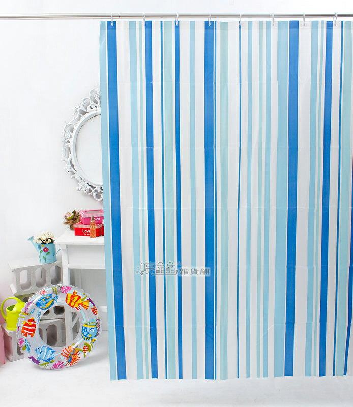 《喨晶晶生活工坊》日本訂單~PEVA浴簾 乾溼分離˙防水簾˙隔間簾、4F002-1 135*180 附掛勾、防止冷氣外洩