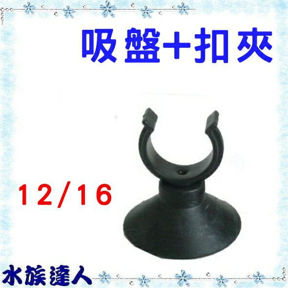 【水族達人】《吸盤+水管扣夾(吸環組大) 12/16mm 軟管硬管用 1入 Y-LE-G-11》