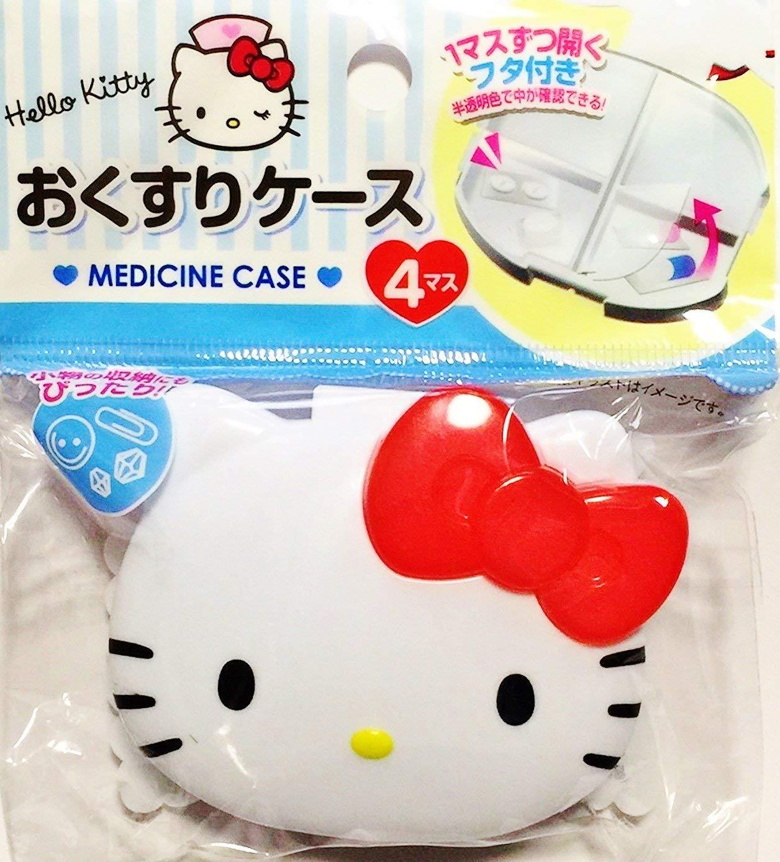 X射線【C575263】Hello Kitty 頭形四格收納盒,收納盒/隱形眼鏡盒/首飾盒/藥盒/分裝盒