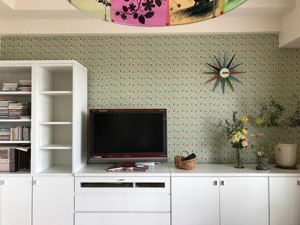 壁紙屋本舖:電視背景牆-施工案例
