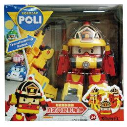 ROBOCAR POLI 波力 4吋 新救援裝備組-消防員變形羅伊