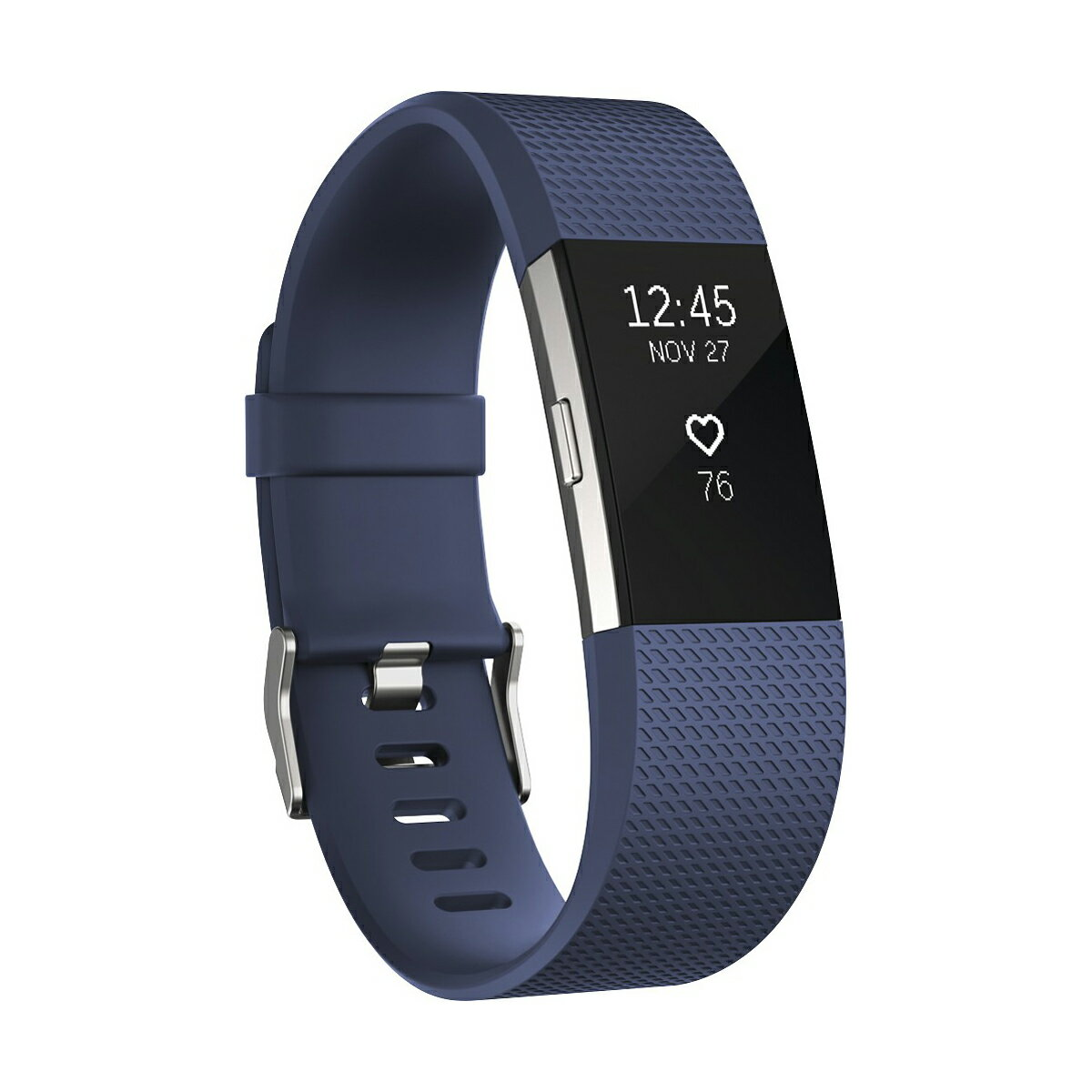 Fitbit Charge 2 Activity Fitness Tracker and Heart Rate Monitor Wristband - Blue - Large