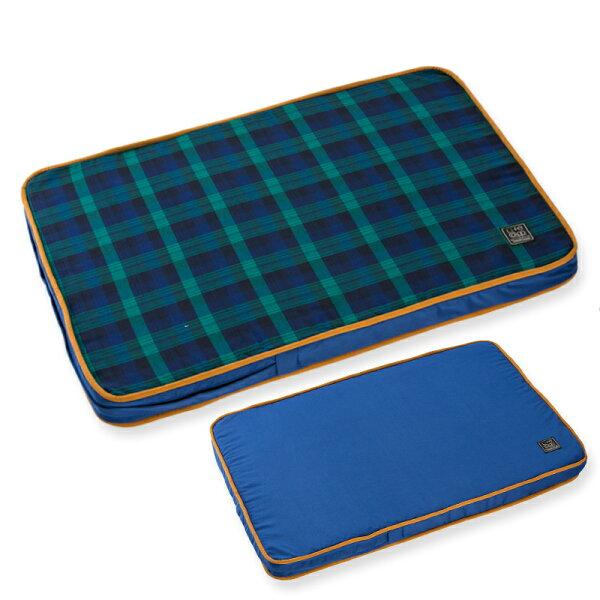 Lifeapp:《Lifeapp》寵物緩壓睡墊S(藍格紋)W65xD45xH5cm