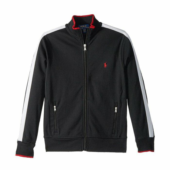 美國百分百【全新真品】Ralph Lauren 棉質 立領 外套 夾克 RL polo 小馬 黑白 XS S號青年版 I773