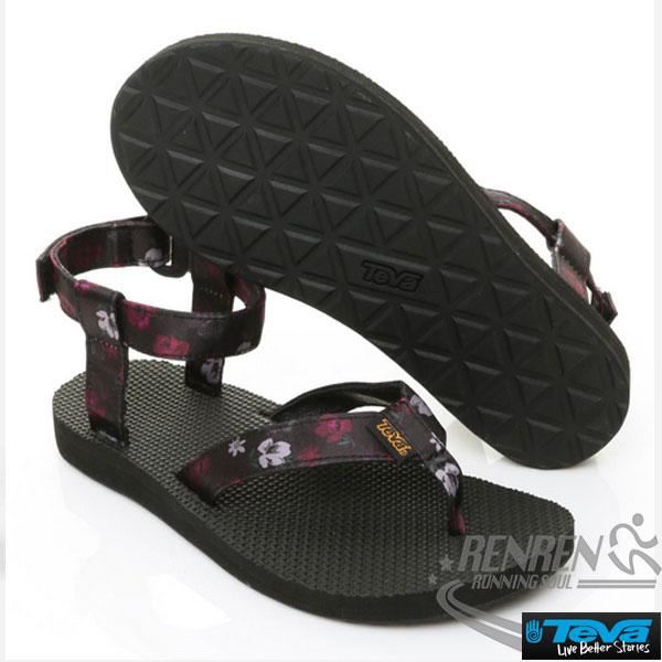 TEVA女運動涼鞋OriginalSandalFloral(黑*花)透氣排水性耐磨抗菌