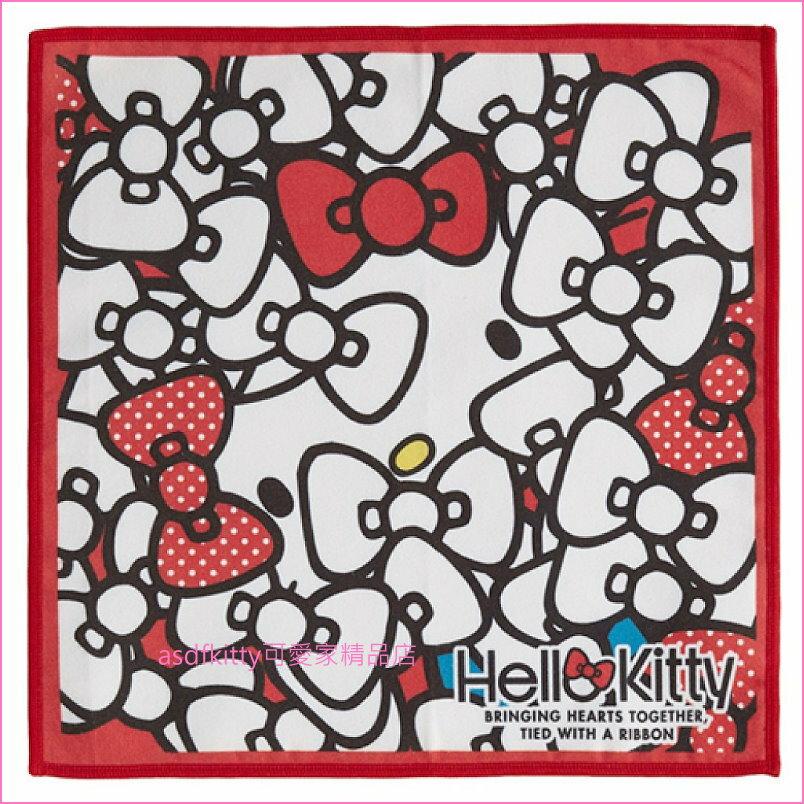 asdfkitty可愛家☆KITTY 保冷手帕/涼感手帕/冷感手帕-日本正版商品