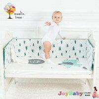 荷蘭Muslintree嬰兒床防撞床圍 寶寶加厚防摔床墊 JoyBaby-Joy Baby-媽咪親子推薦