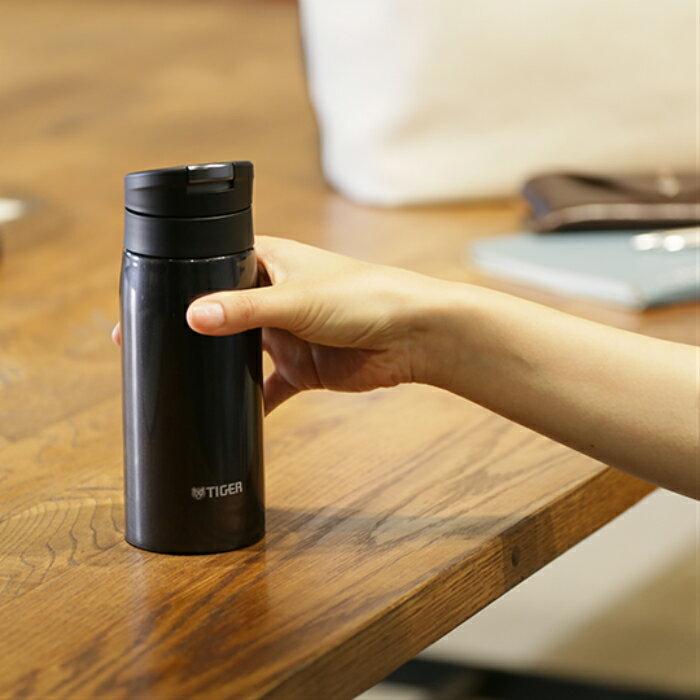日本Tiger虎牌 超人氣 夢幻輕量保溫瓶 水瓶 水壺  /  黑色  / 350ml  /  MCX-A035-KL  / 日本必買代購 / 日本樂天直送。件件免運 2