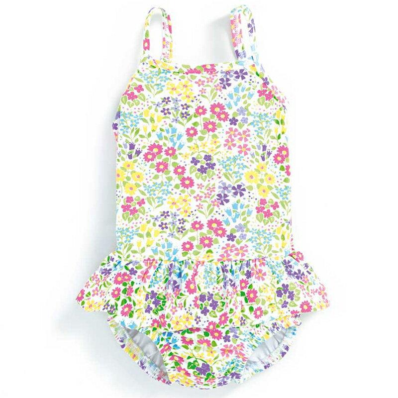 英國 JoJo Maman BeBe 嬰幼兒肩帶式比基尼泳裝_花草樂園 (JJGSW-d2114B)