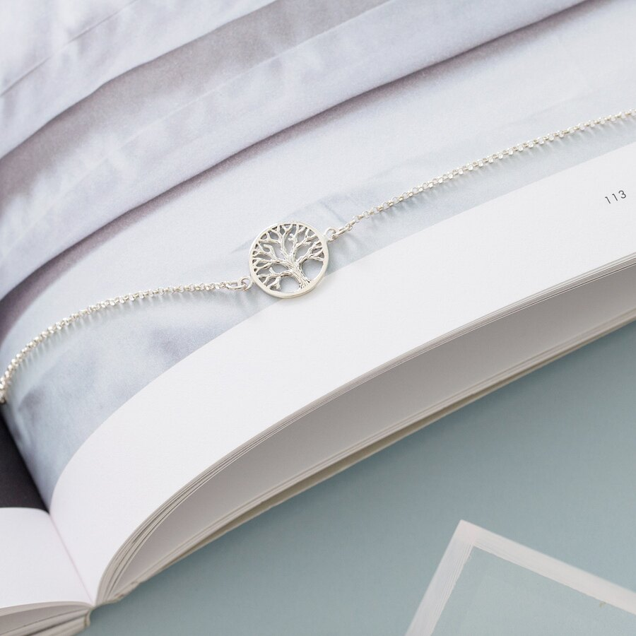 生命之樹 925純銀手鍊 D&M 文青銀飾氣質項鍊戒指耳環類CATHERINE MICHIELS【BR0001】