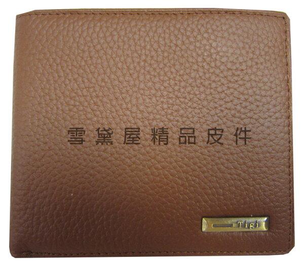 ~雪黛屋~TIGI短夾專櫃男仕短型皮夾100%進口牛皮革材質標準尺寸固定型證件夾BTG076340