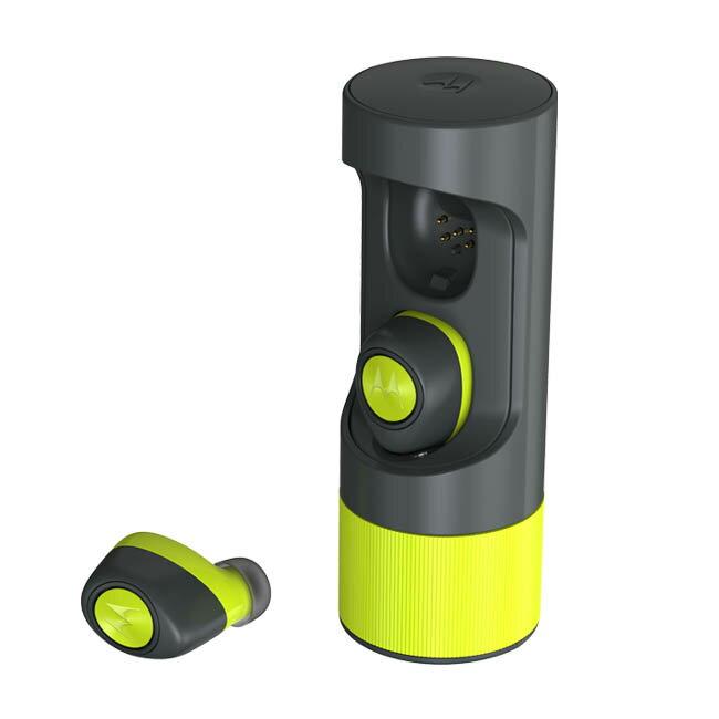 Motorola VerveOnes+ Music Edition 真無線藍牙耳機-黑色 檸檬黃 完全無耳機線 IP57防塵防水【迪塮軍】 2