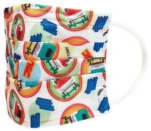 大賀屋 日貨 新幹線 口罩 無紡布 兒童口罩 卡通口罩 小孩口罩  衛生 醫療 感冒必備 過敏 正版 J00016162