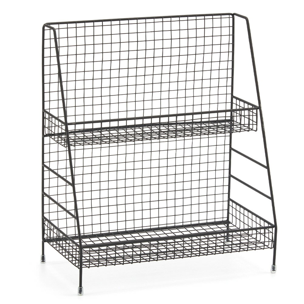 2 Tier Organizer Rack, EZOWare Wire Basket Storage Container Countertop  Shelf For Kitchenware Bathroom