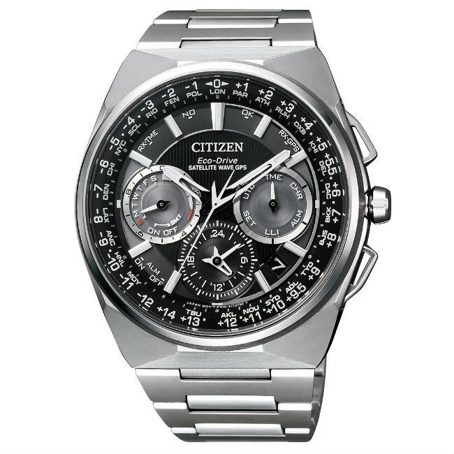 CITIZEN星辰錶 CC9009-81E 鈦金屬航空飛行GPS衛星光動能腕錶/黑面45.4mm