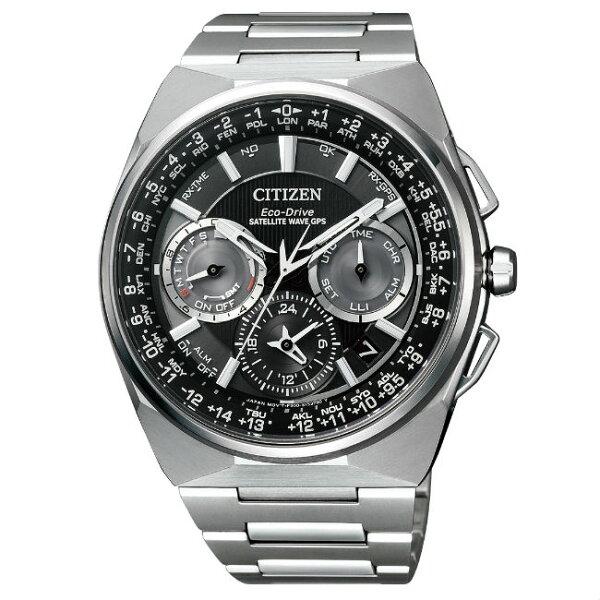 CITIZEN星辰錶CC9009-81E鈦金屬航空飛行GPS衛星光動能腕錶黑面45.4mm