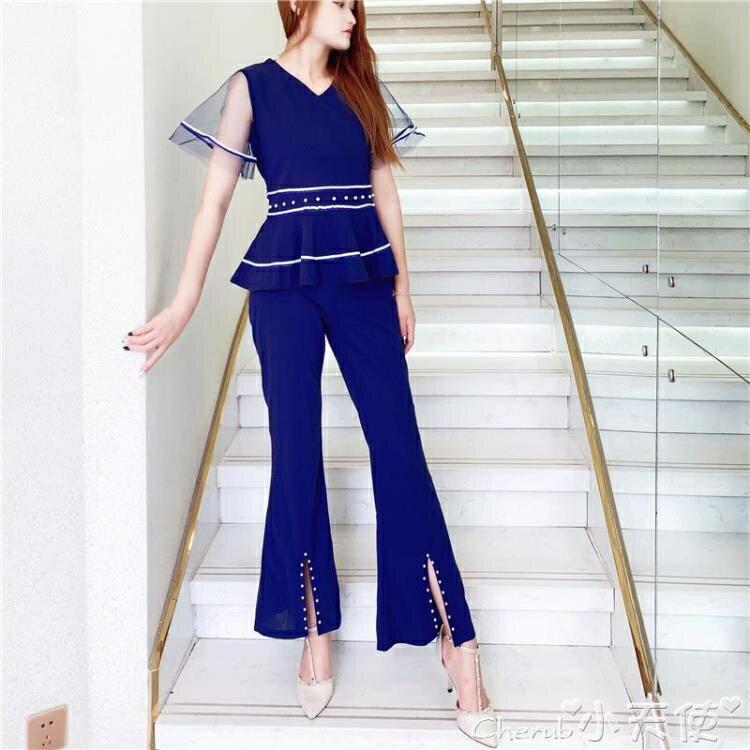 兩件式褲裝 小香風減齡顯瘦套裝女洋氣時尚職業裝氣質女神范褲子兩件套時髦夏1 愛尚優品 五折特惠