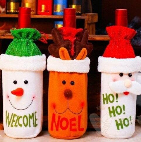 聖誕酒瓶套 紅酒袋 禮品袋 酒瓶套  紅酒瓶套 聖誕裝飾 三款可選【AP0019 】 聖誕節裝飾品 紅酒袋 禮品袋【狂麥市集】