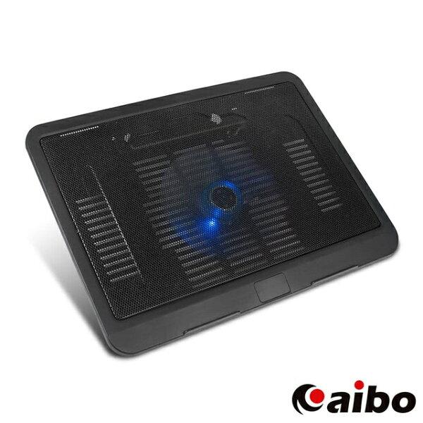 aibo筆記型電腦專用散熱墊筆電散熱墊散熱器散熱座散熱盤排熱墊USB風扇LED燈NB散熱墊