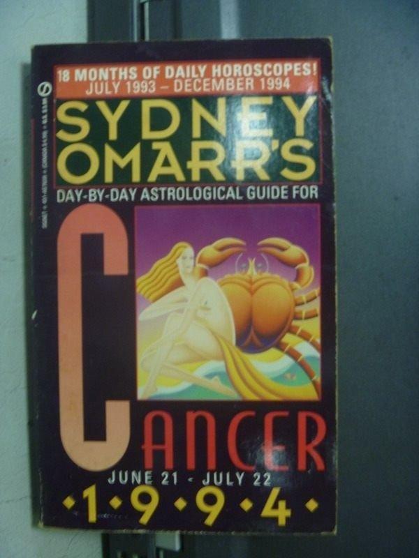 【書寶二手書T6/星相_OPG】Sydney Omarrs_Cancer 1994/6.21~7.22