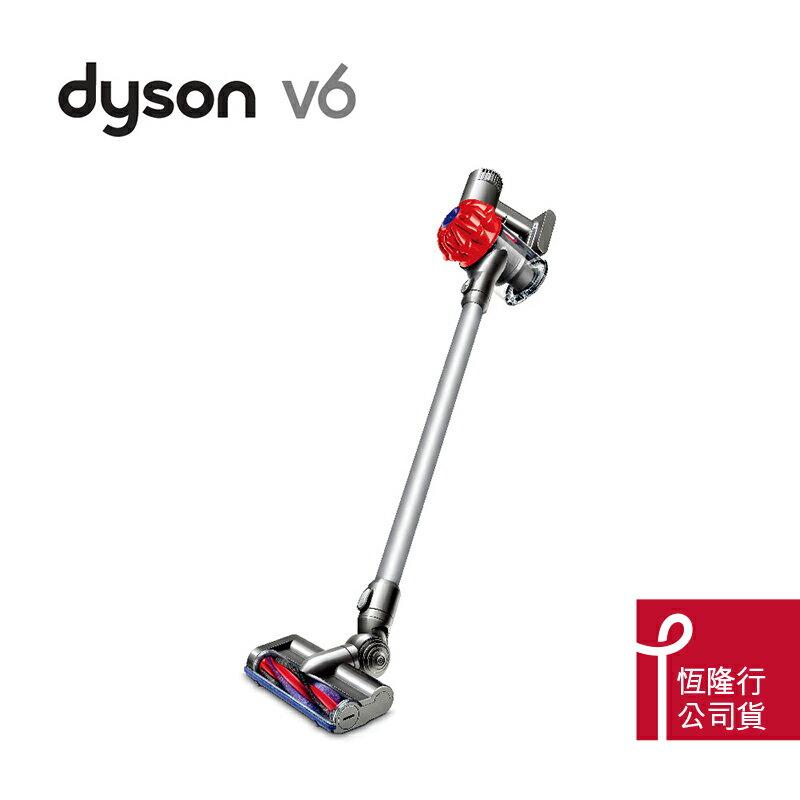 【dyson】V6 SV03 無線手持式吸塵器(艷麗紅)加贈手持工具組